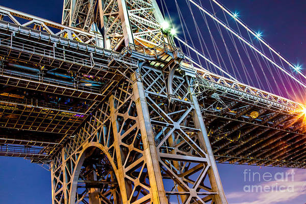 Light Blue Photograph - Williamsburg Bridge 1 by Az Jackson