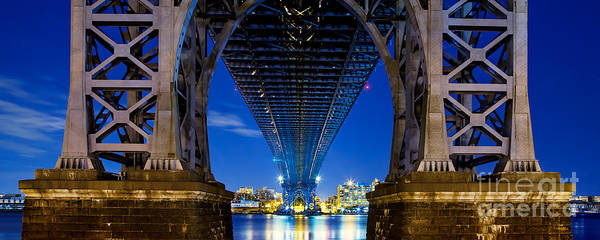 Light Blue Photograph - Williamsburg Bridge 4 by Az Jackson