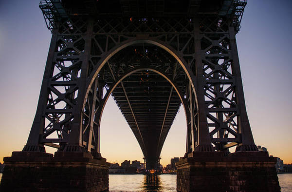Williamsburg Bridge Photograph - Williamsburg Bridge At Sunrise by Michael Marquand