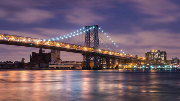 Williamsburg Photograph - Williamsburg Bridge East Tower by Michael Lee
