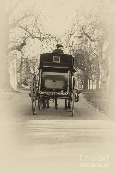 Photograph - Williamsburg Coach Driving Away by Terry Rowe