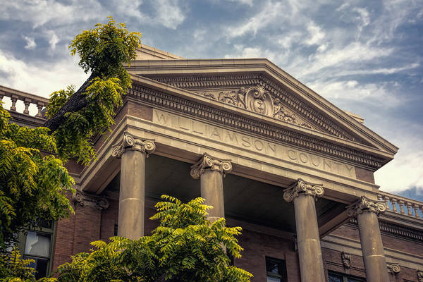 Photograph - Williamson County Courthouse by Joan Carroll