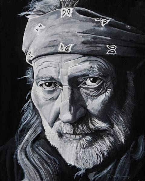 Wall Art - Painting - Willie  by Brian Broadway