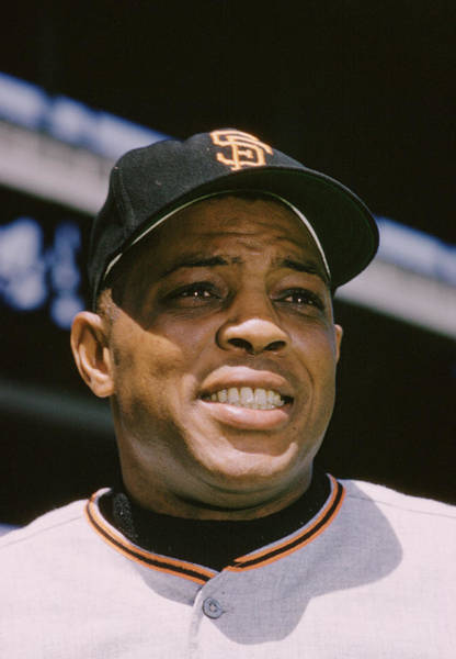 National Baseball Hall Of Fame Photograph - Willie Mays Close-up by Retro Images Archive