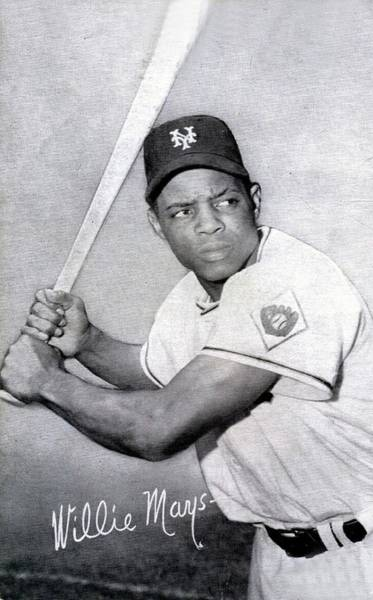 Met Photograph - Willie Mays  Poster by Gianfranco Weiss