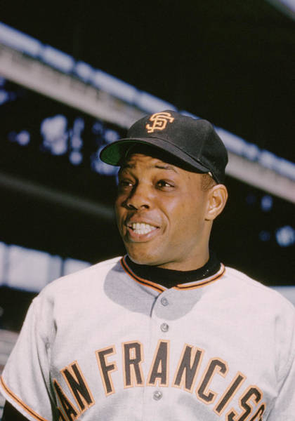 National Baseball Hall Of Fame Photograph - Willie Mays Smiles by Retro Images Archive