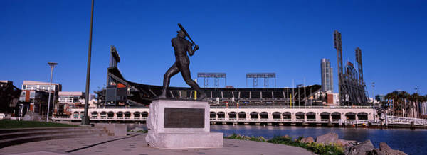 May Day Photograph - Willie Mays Statue In Front by Panoramic Images