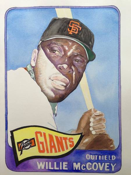 Hitter Painting - Willie Mccovey by Robert  Myers