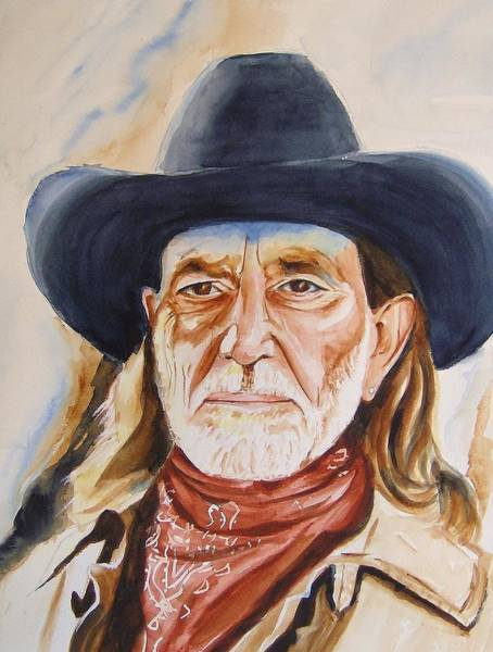 Bridesmaids Painting - Willie Nelson by Brian Degnon
