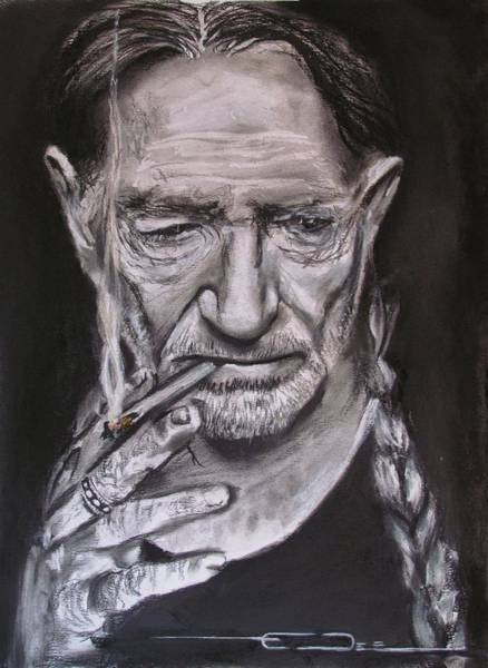 Willie Nelson - Doobie Brother Art Print
