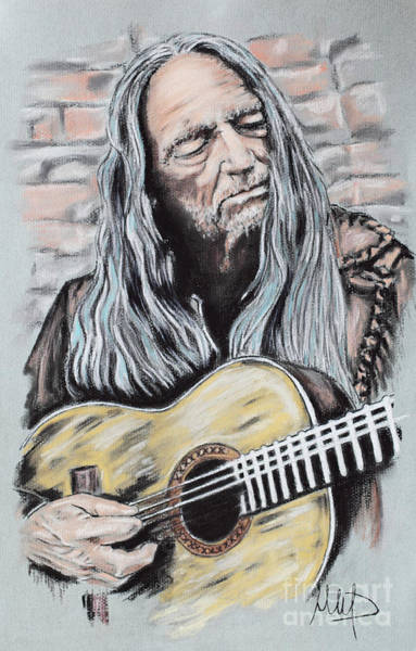 Rock Music Drawing - Willie Nelson by Melanie D