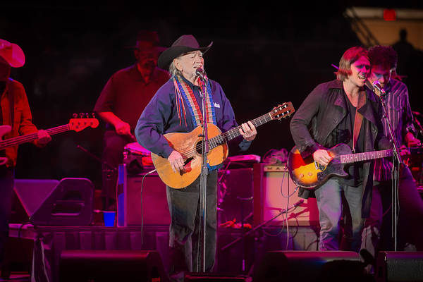 Live Bands Photograph - Willie On The Road In Austin by Mountain Dreams