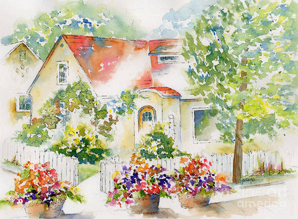 White Picket Fence Painting - Willingdon Place by Pat Katz