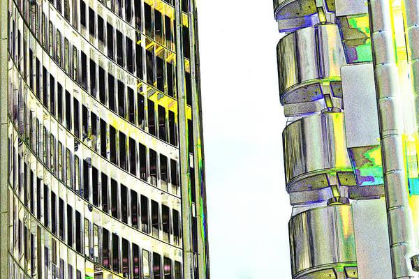 Insurance Digital Art - Willis Group And Lloyd's Of London Abstract Art by David Pyatt