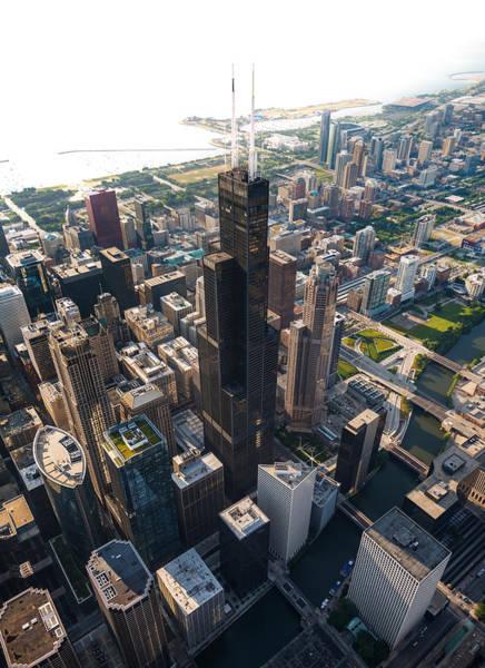 Wall Art - Photograph - Willis Tower Chicago Aloft by Steve Gadomski