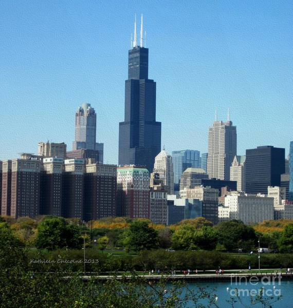 Photograph - Willis Tower by Kathie Chicoine