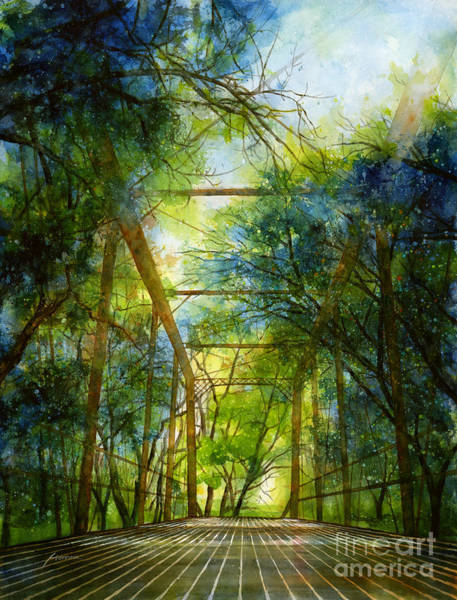 Wall Art - Painting - Willow Springs Road Bridge by Hailey E Herrera