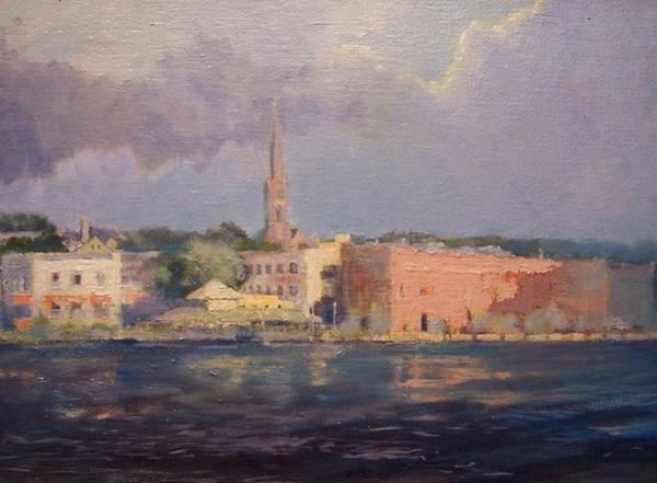Sand Creek Painting - Wilmington Across The Rive by Dan Smart