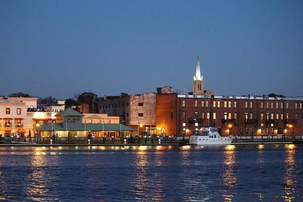 Photograph - Wilmington At Night by Cynthia Guinn