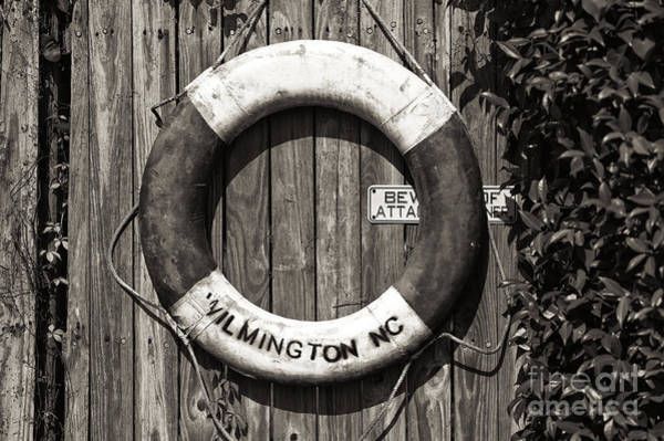 Wall Art - Photograph - Wilmington Life Preserver Mono by John Rizzuto