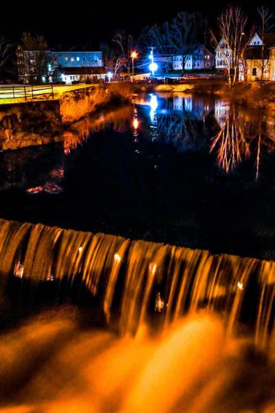 Stoney Brook Photograph - Wilton Nh Stoney Brook Dam At Night by Tom Wilder