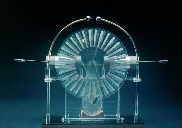Wall Art - Photograph - Wimshurst Machine (electrostatic Generator). by James Stevenson/science Photo Library.