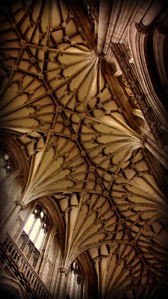Tudor Photograph - Winchester Cathedral Ceiling by Stephen Stookey