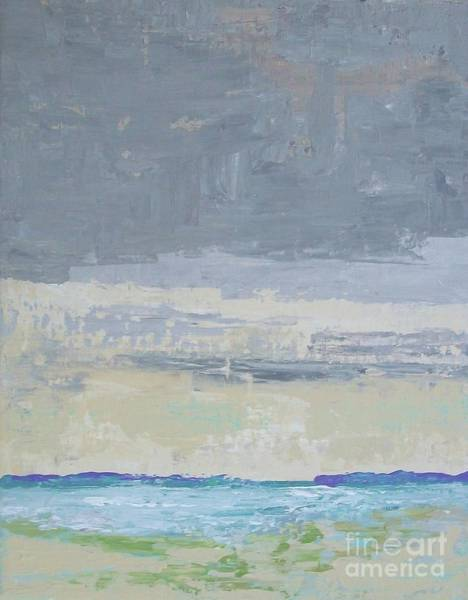 Painting - Wind And Rain On The Bay by Gail Kent