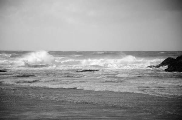 Photograph - Wind Blown Waves Tofino by Roxy Hurtubise