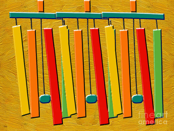 Wind Chime Painting - Wind Chimes by Patrick J Murphy