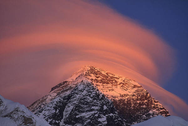 Wall Art - Photograph - Wind Cloud Over Mount Everest by Grant  Dixon