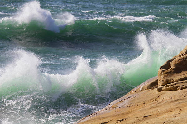 Surf City Usa Photograph - Wind Driven Ocean Waves, Cape Kiwanda by Danita Delimont