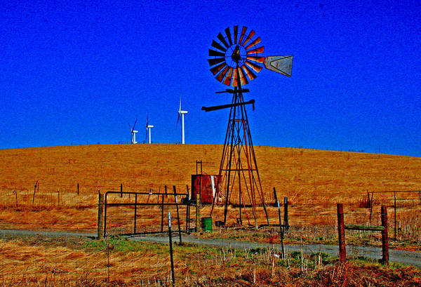 Digital Art - Wind Energy Yields Water And Power by Joseph Coulombe
