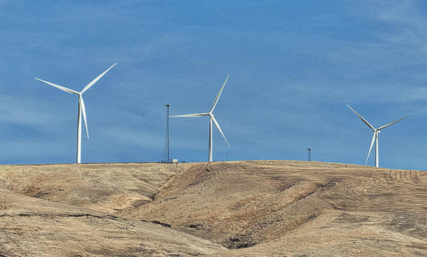 Photograph - Wind Farm And Cell Towers by Ron Roberts