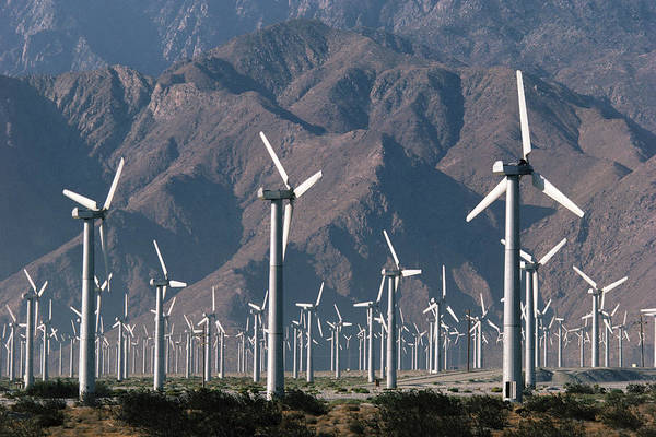 Wall Art - Photograph - Wind Farm Producing Electricity by Peter Menzel/science Photo Library