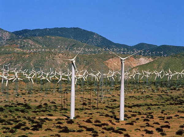 Wind Farm Photograph - Wind Farm by Simon Fraser/science Photo Library