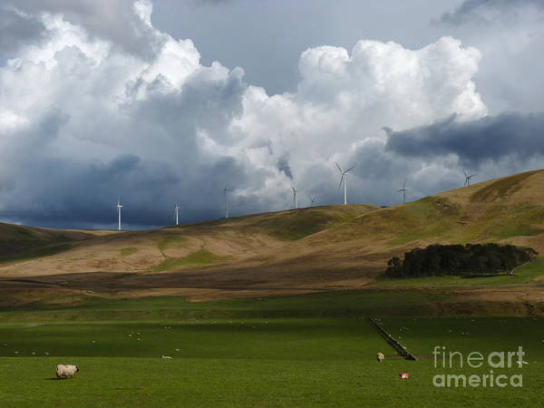 Southern Uplands Wall Art - Photograph - Wind Farm Storm Clouds by Phil Banks