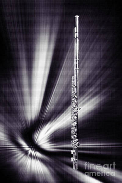 Photograph - Wind Instrument Music Flute Photograph In Sepia 3301.01 by M K Miller