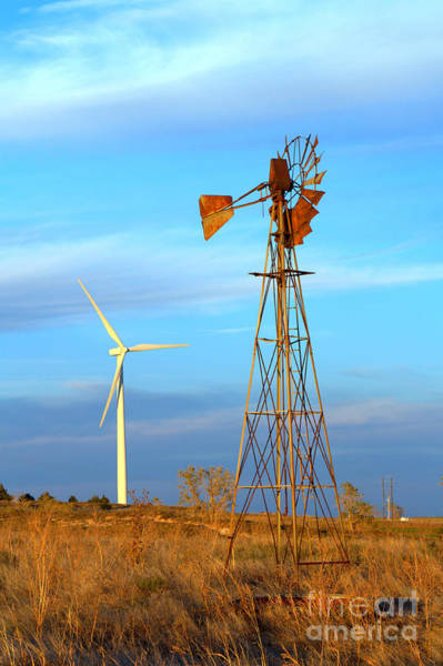 Photograph - Wind Power  Then And Now by Jim McCain