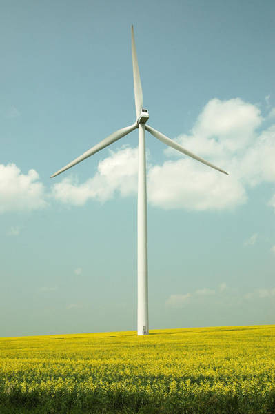 Photograph - Wind Power Turbine In Manitoba. by Rob Huntley