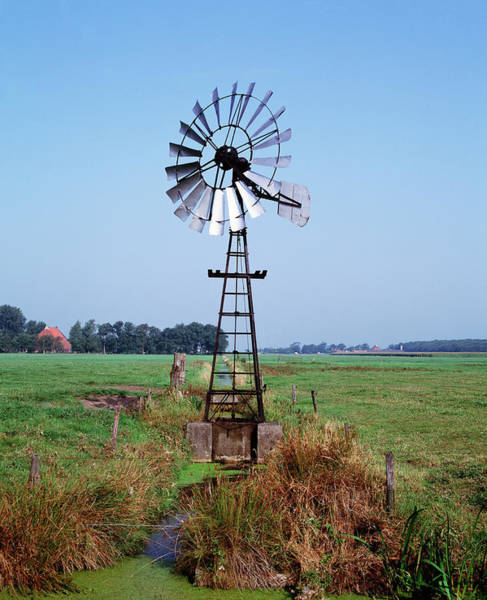 Pump Photograph - Wind Pump by Martin Bond/science Photo Library