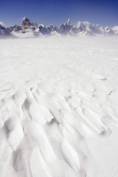 Antartica Wall Art - Photograph - Wind-scoured Snow, With West Side Of by Grant Dixon