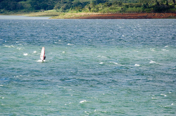 Windsurfing Photograph - Wind Surfer In A Lake, Arenal Lake by Panoramic Images