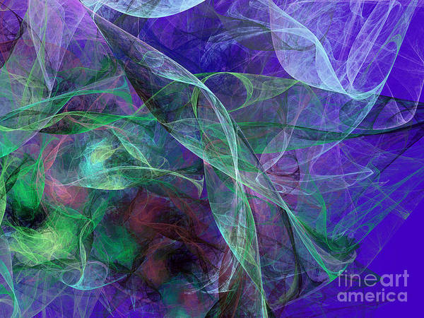 Wall Art - Digital Art - Wind Through The Lace by Andee Design
