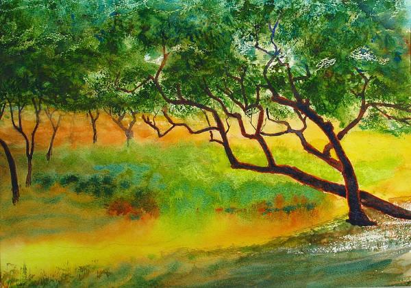 Painting - Wind Trees by Peter Senesac