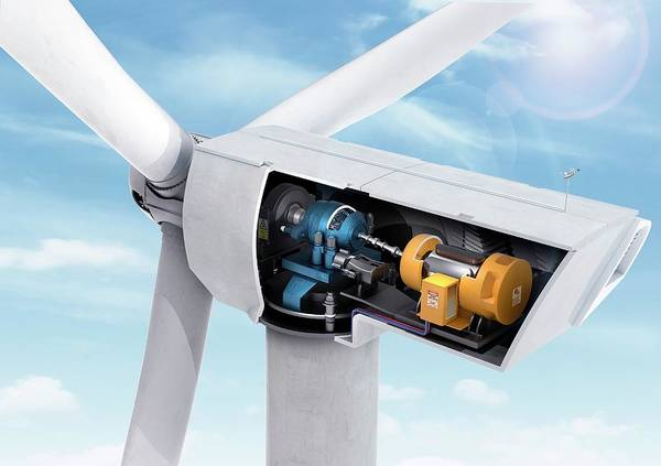 Generators Photograph - Wind Turbine by Claus Lunau/science Photo Library