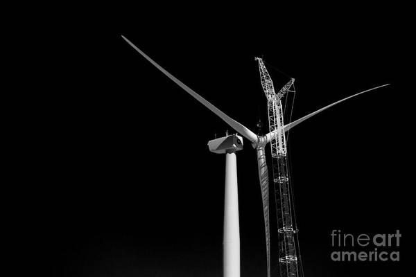Photograph - Wind Turbine Construction by Jim West