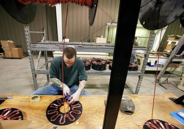 Generators Photograph - Wind Turbine Manufacturing by Jim West