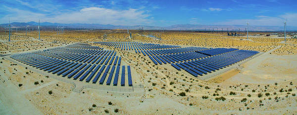 Riverside California Photograph - Wind Turbines And Solar Panels, Palm by Panoramic Images