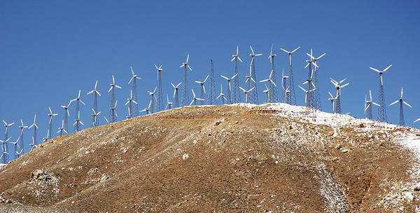 Energy Crisis Photograph - Wind Turbines, California by Theodore Clutter